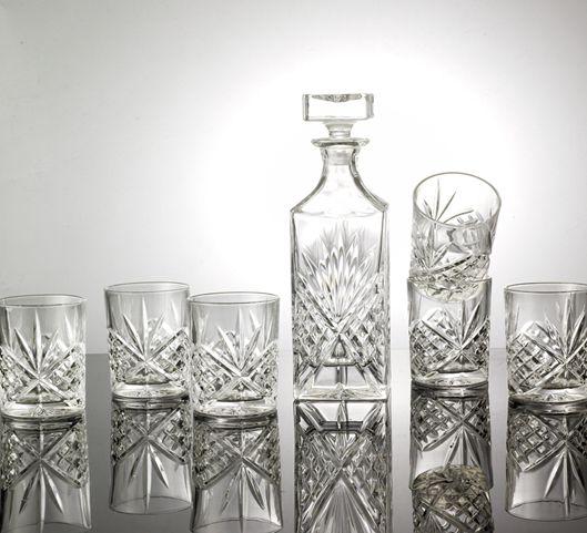 艺术性高档欧式风格白酒透明玻璃酒具套装
