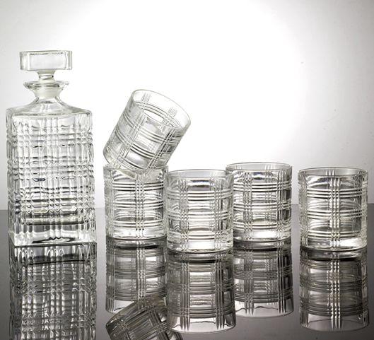 高档欧美7件套水晶酒酒威士忌伏特加酒瓶酒杯套装