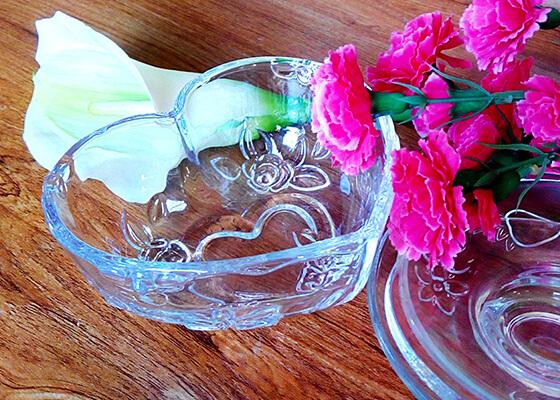 玻璃果盘3心形